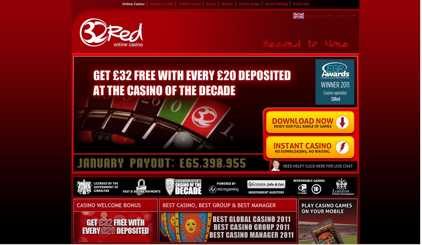 32 Red Casino Screenshot