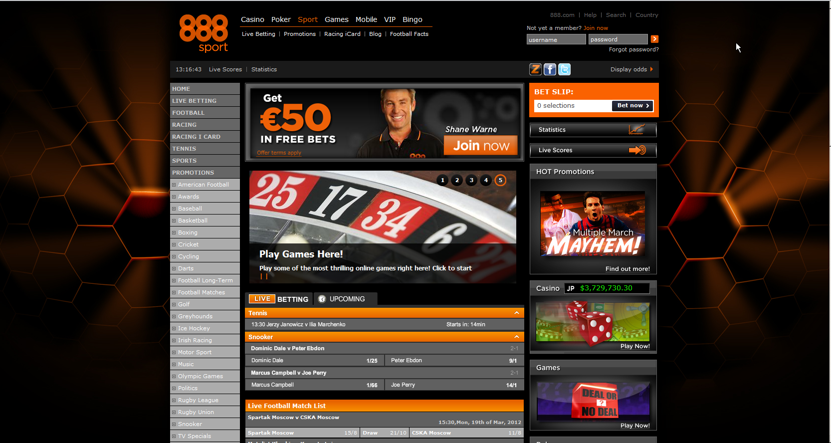 888 sport screenshot