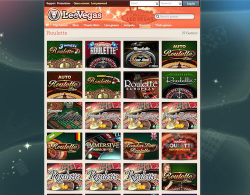 leo vegas roulette screenshot