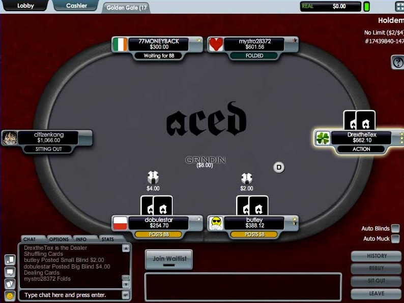 aced poker screenshot
