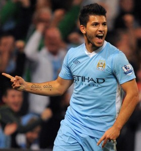 Look for Aguero to find the net for City