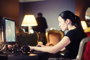 Women gambling online