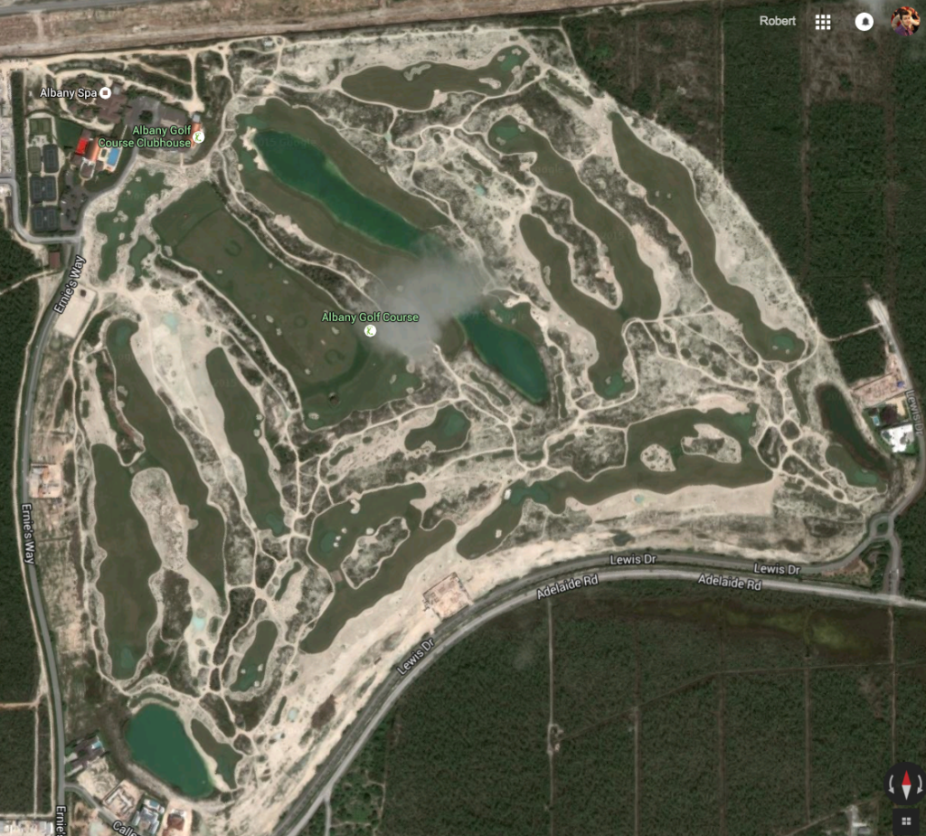 Albany Golf Course Satellite