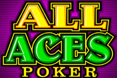 all aces video poker logo