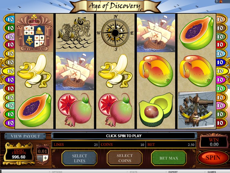 Age of Discovery Slots - Play Free Microgaming Games Online