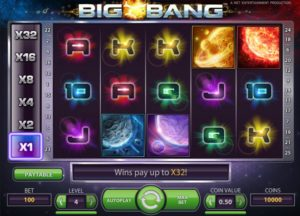 big bang slot screen
