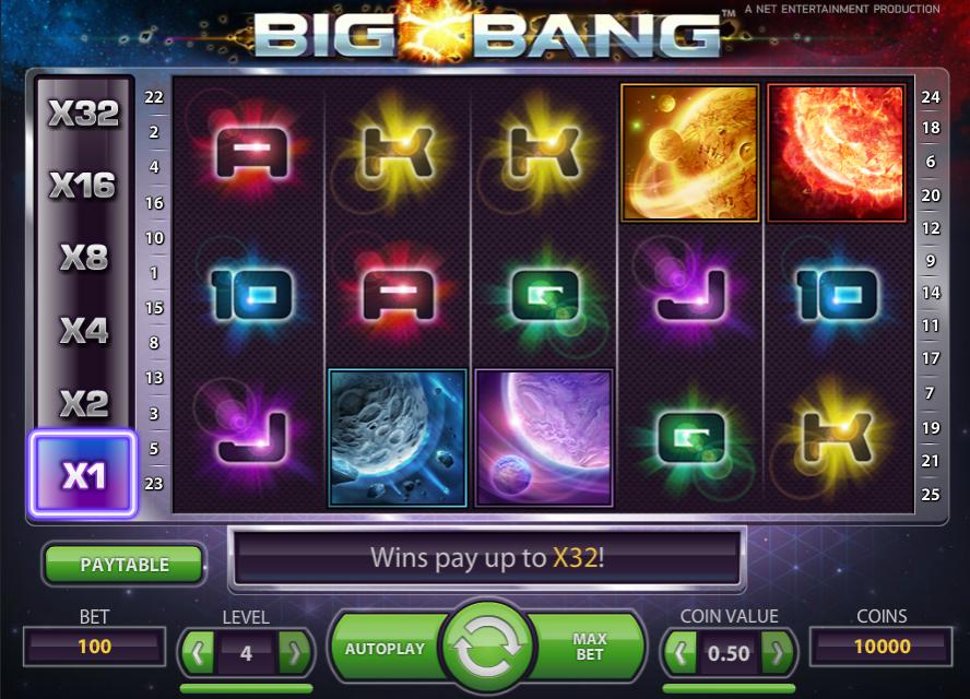 big bang slot screen