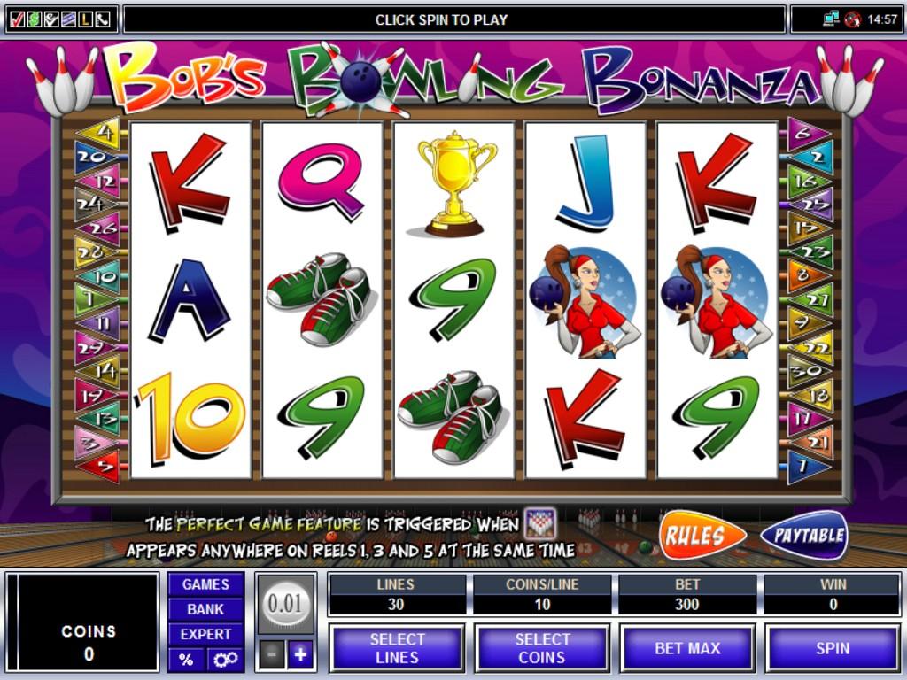 bobs bonus bowling slot screen