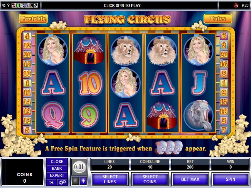 flying circus slot