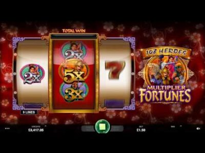 New 108 Heroes Multiplier Fortune Slot Coming to Microgaming Casinos